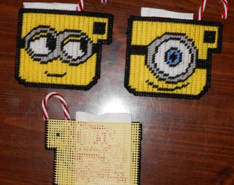 Minion Hotchoclate Coasters Plastic Canvas Pattern