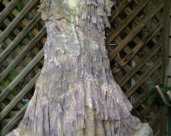 "20%OFF vintage inspired shabby bohemian gypsy dress ..large to 48"" bust..."