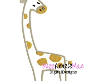 Baby Giraffe Animal Safari Machine Applique Embroidery Design, Mulitple Sizes