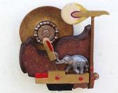 Piano Hammer Landscape - Elephant - Scott Rolfe