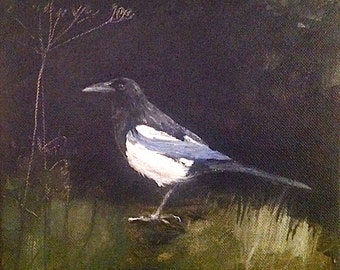 Magpie painting
