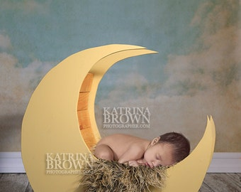 Moon Prop for Infant Newborn Photography. 2 Digital Files with access to Free Photoshop Training!