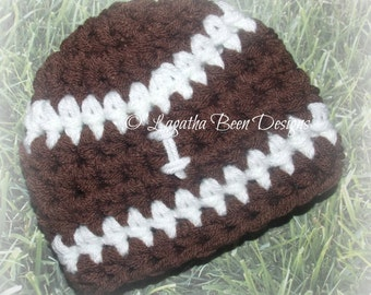 Chunky football hat - football hat - baby football hat - chunky baby hat - sports photo prop - football season - made to order