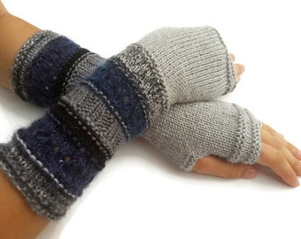 Fingerless gloves - Arm warmers - Womens Fingerless - Long Fingerless Mittens - Wrist warmers - Hand warmers In Pink Shades