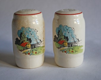 Vintage Shakers Salt/Pepper House by the Sea Decal Set