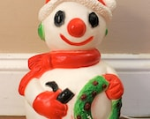Frosty The Snowman... Vintage Holiday Blow Mold Snow, Light Up, Plastic Snowman, Vintage Christmas, Christmas Decor