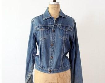 SALE 1970s denim jacket by Montgomery Ward, snap front jean jacket