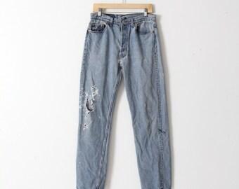 vintage 501 Levi's denim jeans, waist 33