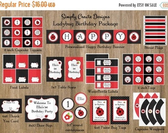 SALE Ladybug Party Package Printable DIGITAL Party