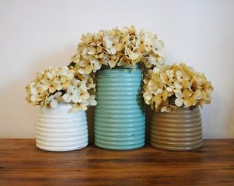 Painted Honey Pot Jars, Pick Your Colors, Summer Home Decor, Table  Centerpiece,