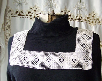 Vintage Lace Collar Crochet Collar Cream Color Costume Design Vintage Crochet 1930s