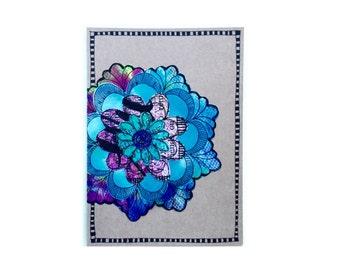 Handmade Blank Card - Paper Flower Garden series 1 - 5x7 (PFGL-0022)