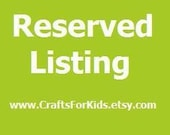 Reserved Listing for Edith Friedberg