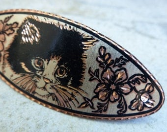 Charming cat hair clip