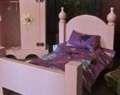 "American Girls Doll beds 18"" doll furniture for Arnetts Santa's or teddy bears Frozen bedding"