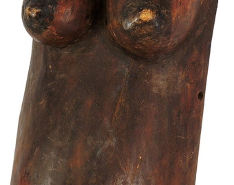 Makonde Pregnant Belly Mask Miniature Njorowe African Art 100587