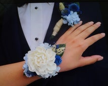 Corsage  Boutonniere  Wrist Corsage  Prom Corsage  Wedding Corsage  Custom Corsages  Boutonniere  Made To Order  Wedding Corsage