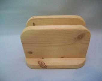 Craft Supply, Unfinished Wood Napkin Holder, Ready to Paint Napkin Holder, Decoupage, Craft, Unfinished Wood,