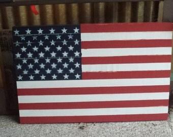 Wooden American Flag, American Flag, Wooden Flag, Flag, Rustic Flag, Handmade Wooden Flag, Wall Art, Wall Hanging, Large Wooden Flag, Flag