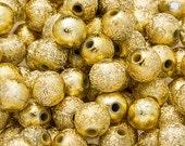 300 STARDUST Beads 6mm GOLD Metallic Acrylic