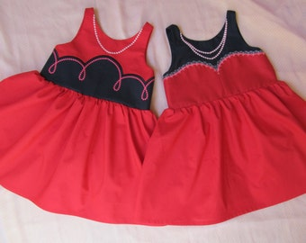 ITH embroidery machine project / Twins Tango dresses 2 - machine In-the-hoop embroidery designs - for hoops 6x10 and 8x12