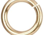 Open Jump Ring 14Kt Gold Filled 18ga 10mm  - 10pcs (10511)
