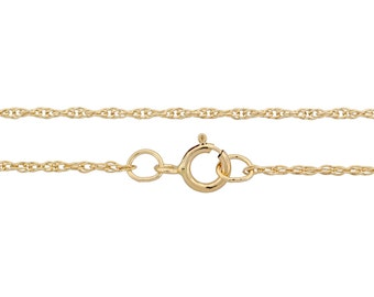 14Kt Gold Filled 1mm 18Inch Rope Chain - 5pcs Wholesale quantity Discounted price (2992)/5