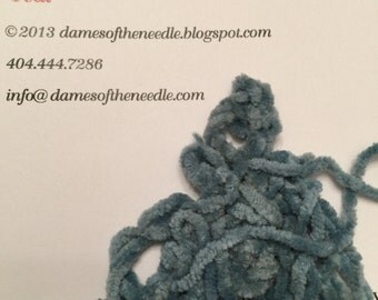 3 yards Chenille Teal