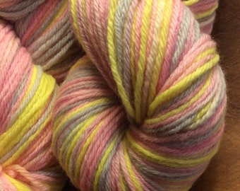 Hand Dyed DK Yarn Merino Wool Yarn in Pastels
