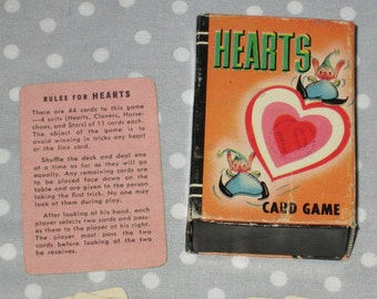 Vintage FULL Deck of Hearts by Peter Pan Playing Cards Game Card Game Whitman Miniature Pixie Elf Elves