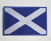 Brand New Scotland Embroidered FLAG Patch Iron OR Sew