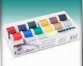 Madeira Rayon Metallic Embroidery Thread Gift box of 18