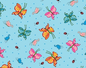 Quilting Treasures, Mary Engelbreit - Tossed Butterflies