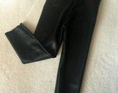 Black Faux Leather leggings vegan Baby Toddler Kids Girls Boys unisex stretch pants Size 0 3 6 9 12 18 24 months 2T 3T 4T 5T 6 7
