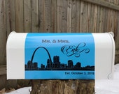 City Skyline Wedding Mailbox - Card Holder - Card Boxes - Mr. & Mrs. Personalized