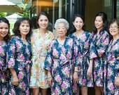 Bridesmaid Robes. Kimono. Bridal Robe. Bridesmaids Robes. Kimono Robe. Wedding. Bridesmaid's Gift. Wish Treasure Love.. Knee Length.