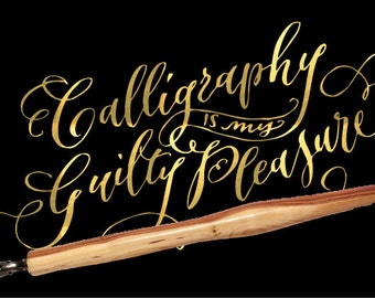 Calligraphy dip wooden pen vintage style