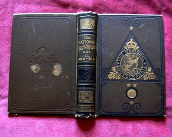 Antique Book Cover Boards Hardback from The National Encyclopaedia