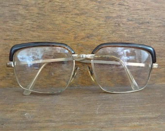 Vintage French Prescription Reading Glasses Spectacles Specs circa 1960-70's / English Shop