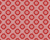 Winter Essentials IV Small Diamond Snowflake Red by Studio E Fabrics