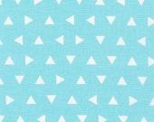 Remix Aqua Triangles by Ann Kelle for Robert Kaufman