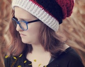 Sassy Santa Slouchy Hat Pattern with Removable Headband/Earwarmer