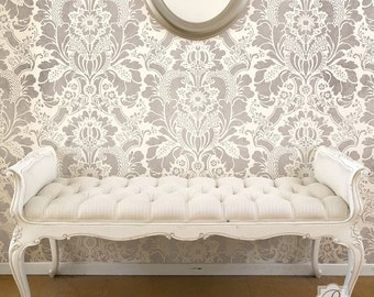 Lisabetta Damask Wall Stencil-- pattern for wall and DIY home interior