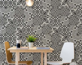wallpaper that looks like stencils - photo #20