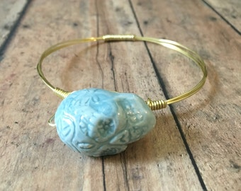 sugar skull wire wrapped mix and match bangle