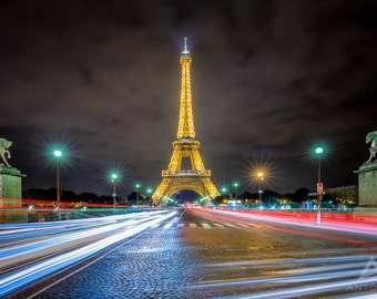 Eiffel Tower Trails Paris - 8x10 Fine Art Print
