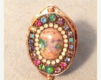 SUMMER SALE Mexican and ethiopian Opal multi stone ring