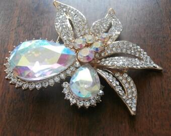 Murano Glass Diamond Tear Drop Pin