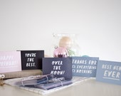 Mini greetings card set // 5 cute little A7 cards for any occasion