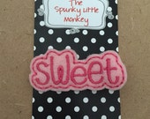 Pink Butterfly Embroidered Felt Clip by The Spunky Little Monkey